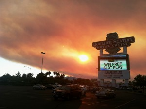 mt.charleston wildfire, boulder station