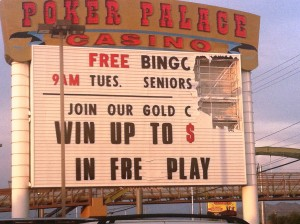 poker palace, sign