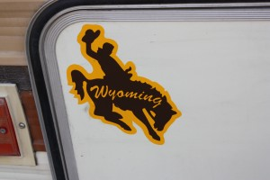 KOA in Laramie WY, bumper sticker