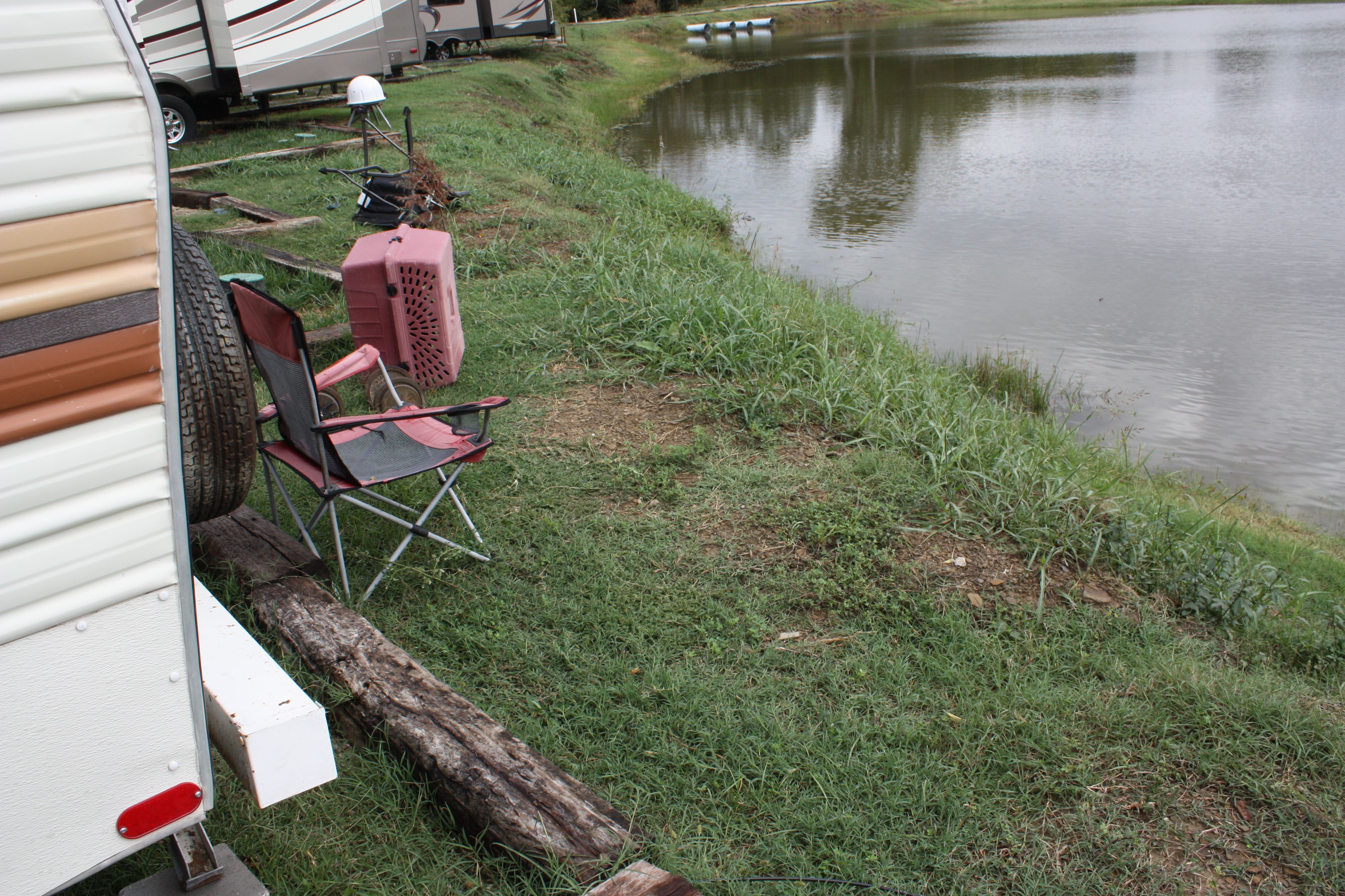 backyard fishing at the rv park does it get any better the ramblin